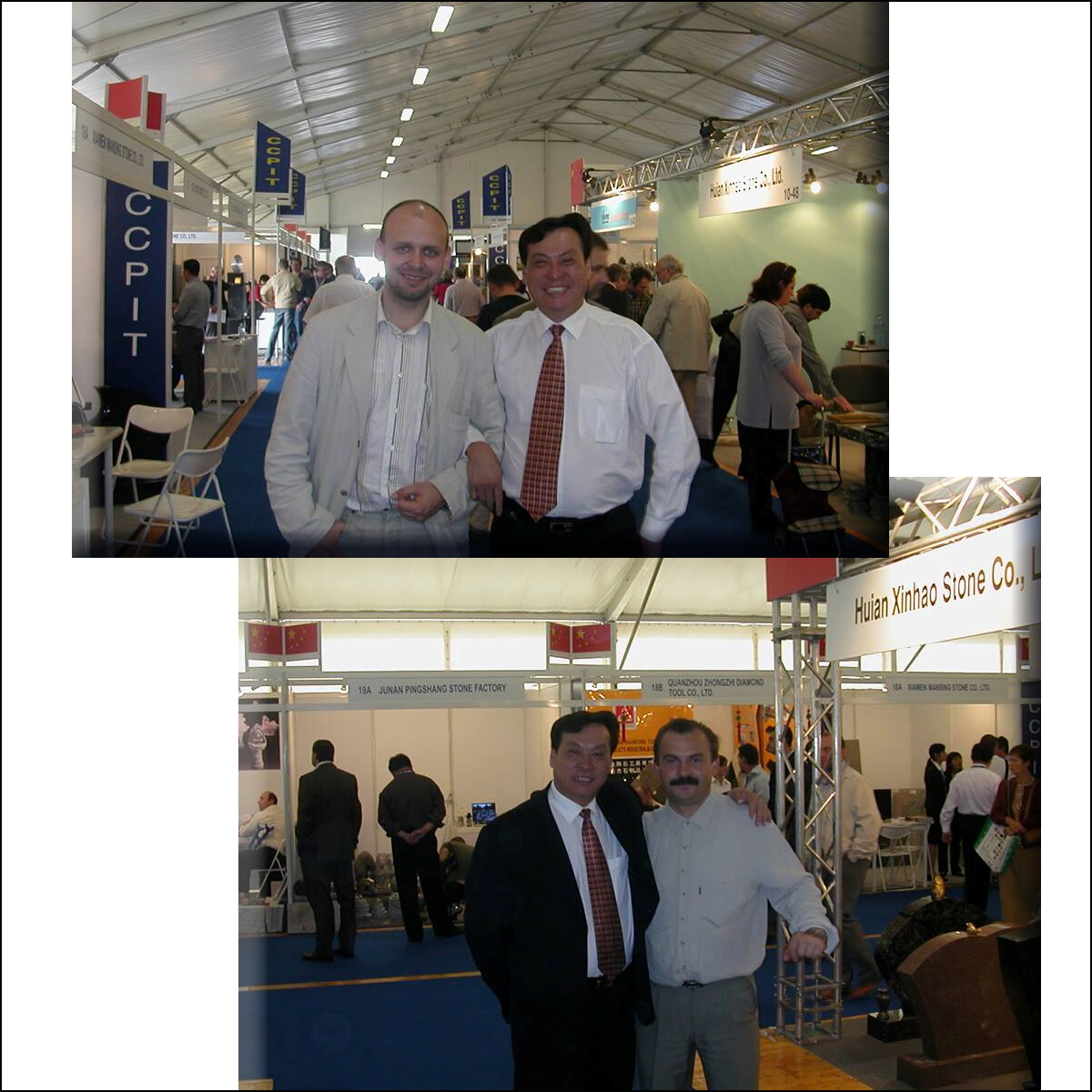 JX Abrasives Attended Italy Marmomacc in 2003